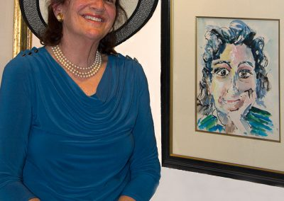"""""""Jill, My Muse"""" with her Portrait"""