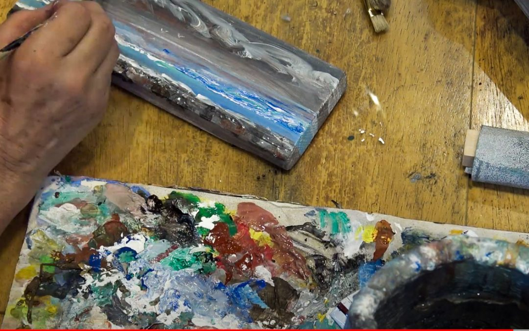 Transforming a Piece of Wood into the Seashore